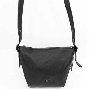 Coach Womens Crossbody Bag Black Full Zipper Adjus
